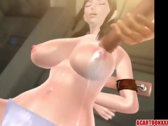 Biggest bumpers 3D babe gives titjob to stranger..